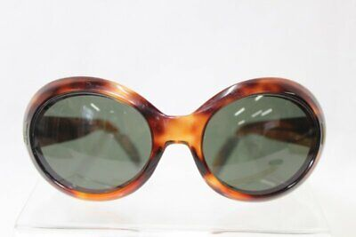 Vtg Suntimer Sunglasses Faux Tortoise Shell Thick Rims Victory Style #S-593 (Small Round Tortoise Shell Sunglasses)