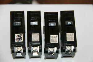 4 x 15amp Single Pole Circuit Breaker