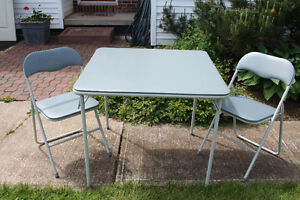 Card table with chairs
