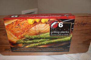 New Cedar Grilling Planks ( planked salmon on BBQ )