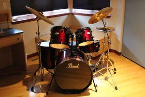Pearl Forum Drum Kit with Zildjian Cymbals