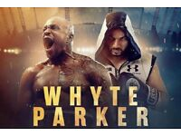 WHYTE v PARKER Matchroom Boxing Event tickets The 02 Arena