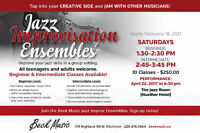 Jazz Improvisation Classes - Beginner & Intermediate Levels