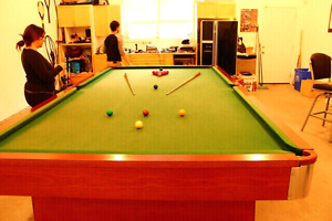 6' x 12' 2.5 inch slate snooker table