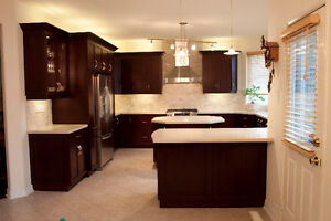 Last Chance! Solid Maple Kitchen Cabinets Clearance!