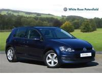 2016 Volkswagen Golf Match Edition 1.6 TDI 110 PS 7-speed DSG 5 Door Diesel blue