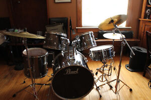 Pearl Export Series Drums with upgraded Sabian SBR cymbal set
