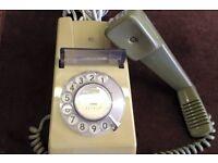 70s Retro Mod Rotary Dial GPO Trimphone Telephones Phone Model 722 2-Tone, X 2.