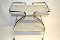 Desserte Chrome design vintage 1970