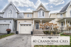Stunning 3 Bed 2 Storey Open Concept Home in Whitby Brooklin!
