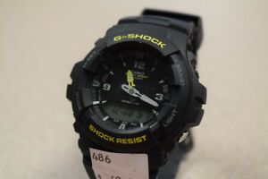 Casio Men's G-Shock Analog-Digital Watch w/ Black Resin Strap