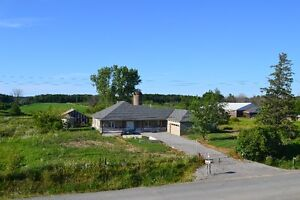 Newer Ranch Bungalow on 19 Acres near Hwy 406