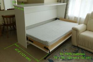 Sidefold single bed