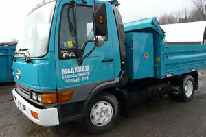 2001 HINO - DUMP TRUCK WITH FOLD DOWN SIDES