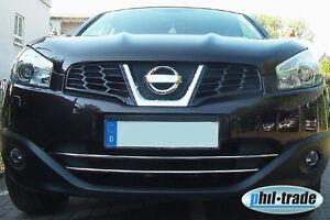 Nissan Qashqai (+2) ab 03.2010--  Chrom Grill Leisten Stoßstange vorne Edelstahl