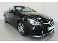 2014 BLACK MERCEDES E250 2.1 CDI AMG LINE 2DR CONVERTIBLE CAR FINANCE FR £257PCM
