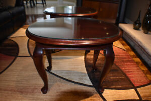 Shermag Solid Maple Oval End Tables (2) LIKE NEW
