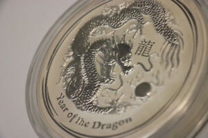 **WOW** 2012 Year of the Dragon, 1 KG Silver, 30$ Coin (#15569)