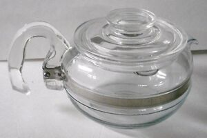 Vintage Pyrex Flameware Pot Belly Style Teapot!