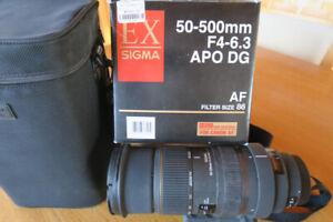Lentille 50- 500mm F4-6.3 APO DG AF SIGMA pour Canon