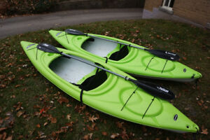 TWO X 10 FOOT PELICAN KAYAKS MADE BY RAMX
