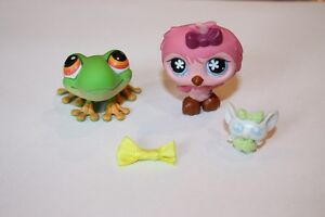 LPS Frog #50, Bird #496 And 2 Accessories