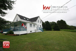 Waterfront with detached garage & 85 Acres of land!