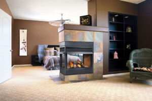Gas and Electric Fireplace - Great Showroom