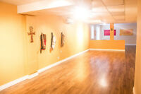 Studio Space availabe for rent (approx. 1,000 sq. ft.)