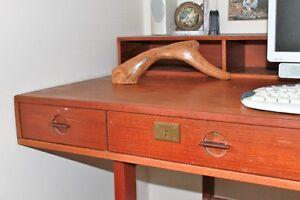 Vintage 1970's Teak Peter Lovig Nielsen Partner's Desk