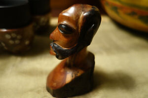 Petit Buste Africain en  / Small African Wooden Statue ( Bust )