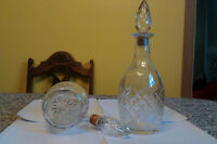 TWO Vintage Pressed Glass London Ontario Winery Bottles