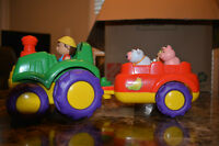 Farm Tractor with Animal Sounds