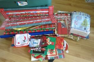 Christmas wrap, bags, boxes, ribbon and more!