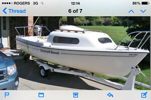 Siren 17 Sailboat with outboard