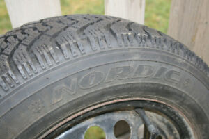 185/65/15 winter tire on rim
