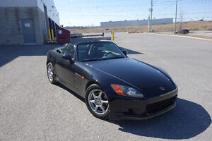 2000 Honda S2000 Berlina Black with Black Leather. A Rare Gem!