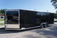 Truck & Enclosed Trailer traveling from AB to NL