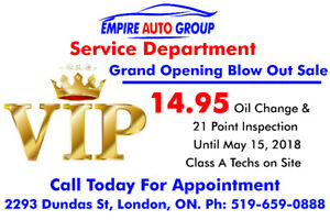 Oil Change Offer - Grand Opening Blow Out Sale