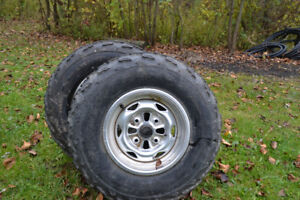 Dunlop 25-8R-12 tires on rims