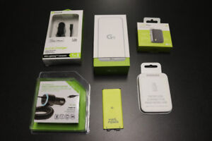 New LG G5 w/Extra battery, 2 car chargers, CAM Plus, USB adapter