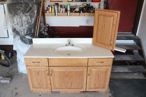 Vanity - Countertop - Sink - Light & Medicine Cabinet