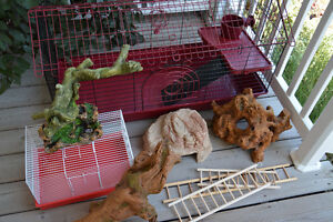 Small pet cages and accessories