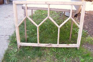 Antique Pine Window Frame From Quebec - Architectural