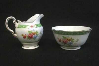Vintage Tuscan Fine England Bone China Lowestoft Cream Open Sugar Bowl Set