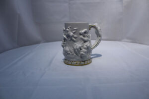 Antique German Mythical Dresden Hand Painted Beer Stein Mug