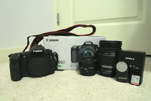 Canon 60D DLSR and Accessories - Excellent condition!