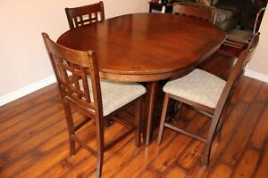5 Piece Dining Room Table with Chairs - Brown