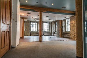 Office Space Available NOW! Old Port. Brick Walls, Wood Beams.