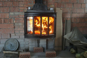 jotul 18 wood stove, built in fireplace